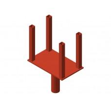 Аренда унивилки стальной для телескопической стойки (б/у), порошковая окраска, пр-во Россия, руб/сутки